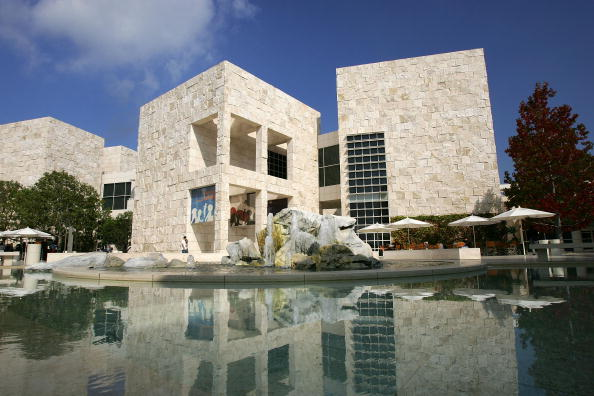LOS ANGELES - OCTOBER 28: The East Pavilion at the Getty Center is seen on October 28, 2005 in Los Angeles, California. The J. Paul Getty Museum's recently departed antiquities curator, Marion True, is facing trial next month in Rome over allegations that she knowingly received dozens of stolen items. Also, reportedly, Greece has renewed a claim that some items were stolen as well and should be returned. The allegations could not only cost the museum its reputation, but some of its prized possessions of Roman, Greek and Etruscan works. (Photo by David McNew/Getty Images)